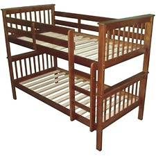 Walnut Donatello Timber Trundle Bunk Bed