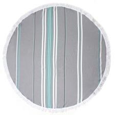 Izmir Grey Round Turkish Towel