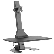 EDT10 Single Monitor Stand with Adjustable Keyboard Tray