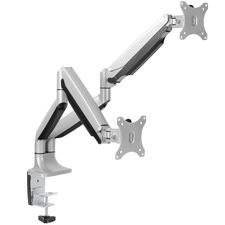 Grey Ergovida Gas Spring Double Monitor Arm