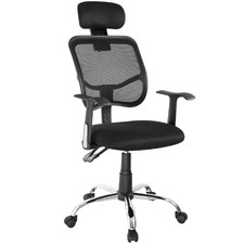 Black Gromm Mesh Office Chair with Headrest