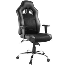 Black Gromm Faux Leather High Back Office Chair