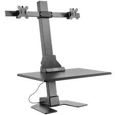 EDT10 Dual Monitor Stand with Adjustable Keyboard Tray