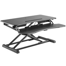 Black Ergovida Desk Riser with Keyboard Tray