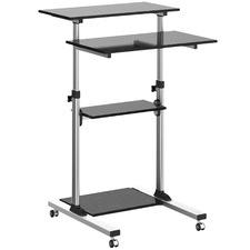 Grey Ergovida Sit & Stand Mobile Desk