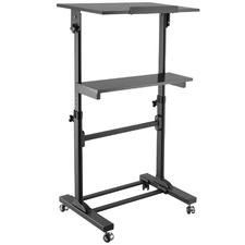 Black Ergovida Sit & Stand Mobile Desk