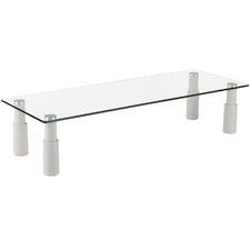 White Ergovida Glass Rectangular Monitor Riser