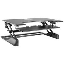 114cm Black Lucinde Adjustable Desk Riser