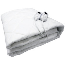 White Fitted Pillow Top Electric Blanket
