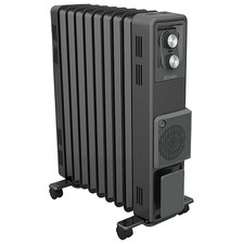 Charcoal Dimplex Oil-Free Column Heater with Turbo Fan
