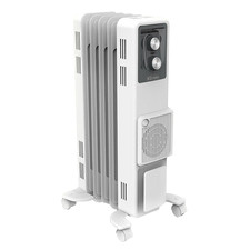 White Dimplex Oil Column Heater with Turbo Fan