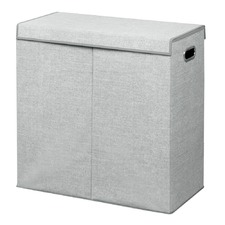 Grey Aldo Double Clothes Hamper