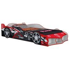 Red Super Sprint F1 Racing Car Bed & Mattress