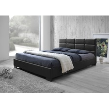 PU Leather Queen Size Wooden Bed Frame