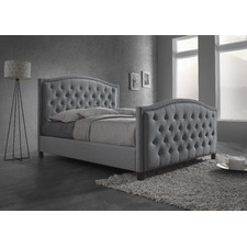 Light Grey Luxury Queen Size Fabric Bed Frame