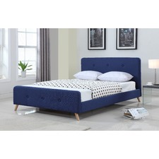 Modern Scandinavian Queen Upholstered Bed Frame