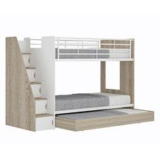 Cruz Trio Single Bunk Bed & Cabinets