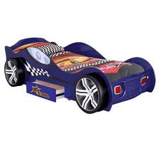 Grand Tour Single Racing Car Bed & Spring Mattress