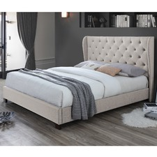 Oat White Diamond Queen Bed & Mattress