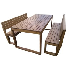 Venetian 3 Piece Outdoor Back Bench & Table Set