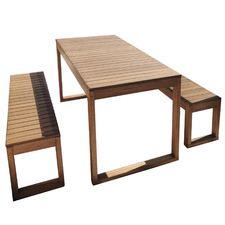 6 Seater Slim Line Outdoor Table Set