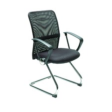 Stat Visitor Chair in Black