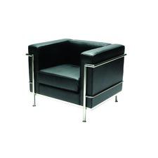 Mezzano 1 Seat Leatherette in Black