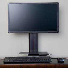 Black Uprite Ergo Desktop Work Station
