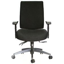 Black Verdana Mid-Back Office Chair