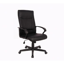 Black Hedvig Faux Leather Office Chair