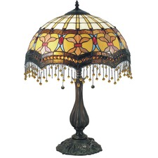 Madonna Beaded Leadlight Table Lamp