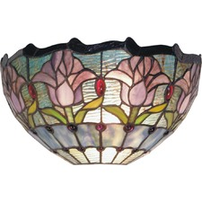 Tulip 1 Light Flush Wall Light
