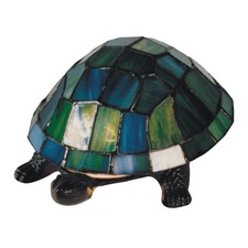 Turtle Table Lamp with Tiffany Shade