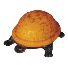Amber Turtle Table Lamp
