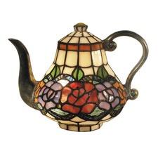Rose Teapot Leadlight Table Lamp