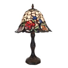 Rose and Dragonfly Table Lamp