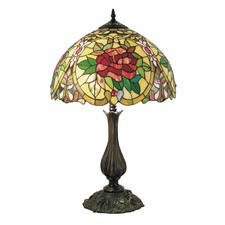 Small Camellia Tiffany Table Lamp