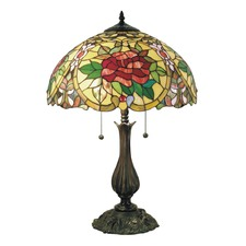 Large Camellia Tiffany Table Lamp