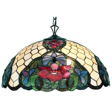 Flower Feature Tiffany Pendant Light