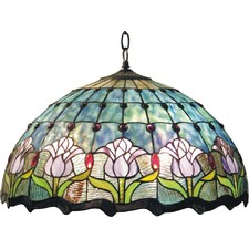 Dancing Flowers Stained Glass Pendant Light