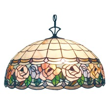 Flower Trim Tiffany Pendant Light
