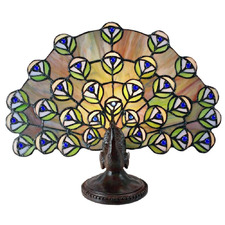 Peacock Tiffany Table Lamp