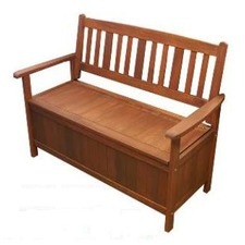 Wilson Outdoor Timber Storage Bench