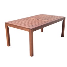 Jackson Rectangular Shorea Hardwood Table