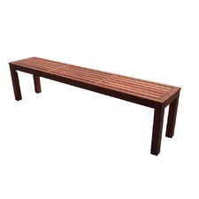 Bay Beach Hardwood Backless Bench