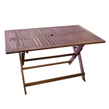 Island Shorea Hardwood Folding Table