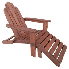 Adirondack Lounge Chair with Ottoman