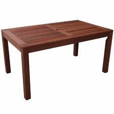 Long Rectangular Outdoor Wooden Dining Table