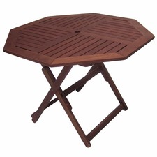 Octagonal Outdoor Wooden Folding Dining Table