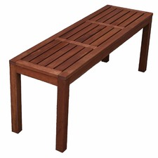 Backless Outdoor Wooden Bench